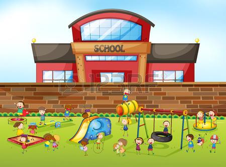 انشا انگلیسی در مورد مدرسه انشا درباره حیاط مدرسه